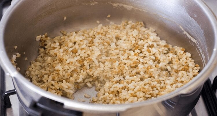 cocer arroz integral en olla express